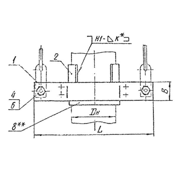 ОСТ 34-10-736-93 Хомут для вертикальных трубопроводов